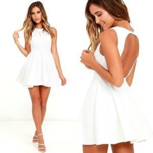 Gal About Town White Skater Dress